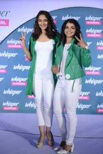 Sonakshi Sinha and Sakshi Malik at Whisper new campaign launch on 20th Sept 2016 (74)_57e22fcf65a5f.JPG