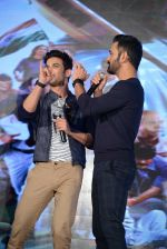 Mahendra Singh Dhoni, Sushant Singh Rajput at MS Dhoni press meet in Delhi on 27th Sept 2016 (5)_57ec0459e69cd.jpg