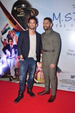 Mahendra Singh Dhoni, Sushant Singh Rajput at MS Dhoni premiere in Mumbai on 29th Sept 2016 (83)_57ee33f71cf85.JPG