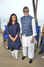 Amitabh Bachchan, Tisca Chopra at NDTV Cleanathon campaign in Juhu Beach on 2nd Oct 2016 (86)_57f11dff3acf4.JPG