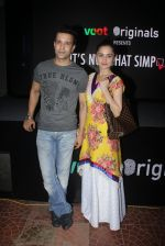 Aamir Ali, Sanjeeda Sheikh at the screening of It�s Not That Simple on 3rd Oct 2016 (53)_57f48662284fe.JPG