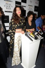 Athiya Shetty walks for Masaba at Amazon India Fashion Week on 15th Oct 2016 (47)_5804a2f9913ad.jpg