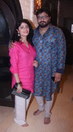 Babul Supriyo with wife at Bappi Lahiri_s Lakshmi Pooja at the Lahiri House in Juhu_5806261423b01.jpg