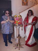 Bappi Lahiri and Chitrani Lahiri at their Lakshmi Pooja at home in Juhu_5806268bcaf44.jpg