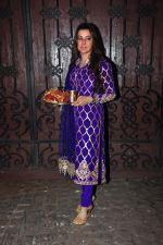 Kehkashan Patel celebrate Karva Chauth at Anil Kapoor�s house in Juhu on 19th Oct 2016 (75)_5808701ae1709.JPG