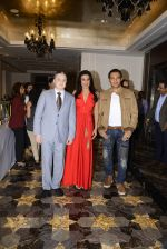 Pooja Bedi, Gautam Singhania, Marc Robinson during the launch of KamaSutra Honeymoon Surprise Pack on 21st Oct 2016