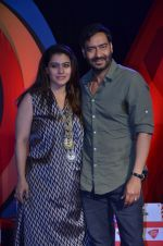 Ajay Devgan and Kajol at Aaj tak