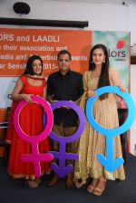 Jigyasa Singh aka Thapki and Meera Deosthale aka Chakor along with Raj Nayak, CEO COLORS at a press meet as COLORS joins hands with Laadli_58247fed095ba.JPG
