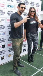 John Abraham and Sonakshi Sinha at red bull race on 13th Nov 2016
