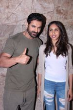 John Abraham with wife Priya Runchal at Force 2 screening in Lightbox on 17th Nov 2016 (44)_582ea7468e78e.JPG