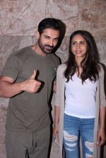 John Abraham with wife Priya Runchal at Force 2 screening in Lightbox on 17th Nov 2016 (45)_582ea74729d14.JPG