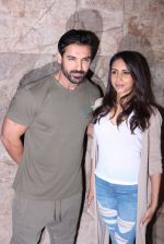 John Abraham with wife Priya Runchal at Force 2 screening in Lightbox on 17th Nov 2016 (29)_582ea73d4eb0f.JPG