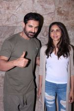 John Abraham with wife Priya Runchal at Force 2 screening in Lightbox on 17th Nov 2016 (46)_582ea747c3ef0.JPG
