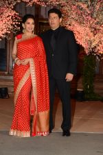 Madhuri Dixit, Sriram Nene at Wedding reception of stylist Shaina Nath daughter of Rakesh Nath on 17th Nov 2016 (82)_582eacb025f12.JPG