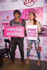 Anusha Dandekar and Milind Soman at Pinkathon press meet on 22nd Nov 2016 (62)_58353a85a0c66.JPG