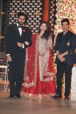 Aishwarya Rai Bachchan, Abhishek Bachchan at the Ambani_s wedding party of their niece, Isheta Salgaoncar on 24th Nov 2016  (63)_58384e061affa.JPG