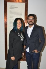 sunil padwal with wife at Satish Gupta_s art exhibition by Gallery Art N Soul on 29th Nov 2016 _583e76a808bf5.JPG