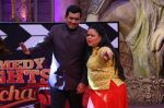 Sanjeev Kapoor, Surveen Chawla and Mudassar Khan grace the stage of COmedy Nights Bachao Taaza  (8)_5841149567406.jpg
