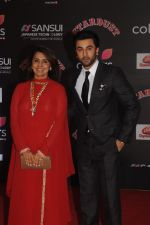 Neetu Kapoor and Ranbir Kapoor at Sansui COLORS Stardust Awards_5858d058ee6dc.JPG