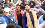 swapnil joshi & ganesh acharya on location of Marathi film Bhikari in Filmcity, Mumbai on 21st Dec 2016 (4)_585b8fa2ecdde.jpg