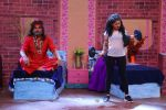 Krushna Abhishek dressed as Swami Om and Aditi Bhatia dress as VJ Bani on the set of Comedy Nights Bachao Taaza_587b6074e3fe1.JPG