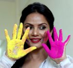 Neetu Chandra in a dry Holi celebration special photo shoot on 8th March 2017