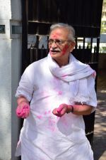 Gulzar celebrates Holi with his family on 13th March 2017