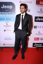 Ayushmann Khurrana at the Red Carpet Of Most Stylish Awards 2017 on 24th March 2017