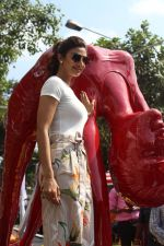 Shilpa Shetty inaugurated Her Yoga Posed Statue on 17th May 2017