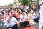 Arbaaz Khan, Shaina NC at Mass yoga session to mark the 3rd International Yoga Day at Marine Drive on 21st June 2017 (17)_594a1c23a3cd8.JPG