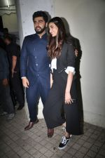 Arjun Kapoor, Athiya Shetty at the Special Screening Of Film Mubarakan on 28th July 2017