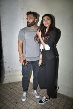 Sunil Shetty, Athiya Shetty at the Special Screening Of Film Mubarakan on 28th July 2017