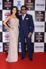Gulshan Grover, Sunny Leone At Red Carpet Of Big Zee Entertainment Awards 2017 on 29th July 2017