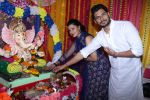 Sambhavna Seth & Avinash Dwivedi Celebrating Ganpati Chaturthi Festival At Home on 25th Aug 2017 (1)_59a01d598cf99.JPG