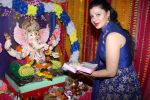 Sambhavna Seth & Avinash Dwivedi Celebrating Ganpati Chaturthi Festival At Home on 25th Aug 2017 (2)_59a01d5a47697.JPG
