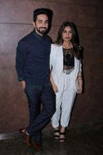Bhumi Pednekar, Ayushmann Khurrana at the Special Screening Of Film Shubh Mangal Savdhan on 31st Aug 2017