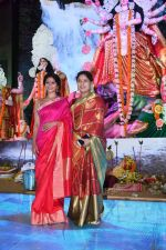 Tanisha Mukherjee with Sharbani Mukherjee at North Bombay Sarbojanin Durga Puja on 29th Sept 2017_59d2258ddf9ea.JPG