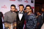 Aparshakti Khurrana, Karan Johar, Ayushmann Khurrana at the Red Carpet Of Filmfare Glamour & Style Awards on 1st Dec 2017
