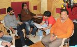 Rajeev Srivastava, Dilip Sen, Javed Ali and Janak Sanghavi at the recording of Song For The Film Shyam Sunder Shreenath Ji-The God Krishna on 13th Dec 2017 _5a312d24c98a0.JPG