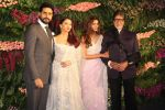 Abhishek Bachchan, Aishwarya Rai bachchan, Amitabh Bachchan, Shweta Nanda at Anushka Sharma And Virat Kohli_s Wedding Celebration In Mumbai on 26th Dec 2017 (16)_5a432ded9c175.JPG