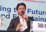 Shahrukh Khan attends the Media shaping the future & entertainment in Magnetic Maharshtra in bkc Mumbai on 20th Feb 2018 (14)_5a8d35eeb0856.jpg