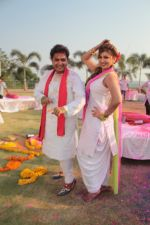 Sukhwinder Singh On Location Shoot of Holi Song Rango Ka Atom Boom on 20th Feb 2018 (24)_5a8d38a618802.JPG