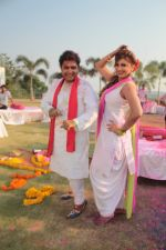 Sukhwinder Singh On Location Shoot of Holi Song Rango Ka Atom Boom on 20th Feb 2018 (47)_5a8d38b6e28ff.JPG