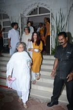 Aishwarya Rai Bachchan, Jaya Bachchan at the Prayer meet for veteran actress shammi in Iskon in juhu, mumbai on 8th March 2018