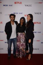 Uraaz, Shaana and Deepika at the Premier of _Ladies First_- The First Original Netflix Documentary that chronicles the life of World No 1 Archer, Deepika Kumari on 8th March 2018