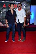 Tiger Shroff, Jackie Shroff at the Special Screening Of Film Baaghi 2 on 29th March 2018