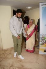 Abhishek Bachchan, Aishwarya Rai Bachchan at the Screening of 102 NotOut in Sunny Super sound, juhu on 1st May 2018 (20)_5ae955a652084.JPG