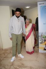 Abhishek Bachchan, Aishwarya Rai Bachchan at the Screening of 102 NotOut in Sunny Super sound, juhu on 1st May 2018 (21)_5ae955a8e747b.JPG