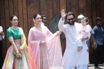 Karisma Kapoor, Kareena Kapoor, Saif Ali Khan, Taimur Ali Khan at Sonam Kapoor Anand Ahuja_s wedding in rockdale bandra on 8th May 2018 (52)_5af18c428cbac.JPG