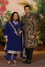 Karan Johar, Hiroo Johar at Sonam Kapoor and Anand Ahuja_s Wedding Reception on 8th May 2018 (174)_5af43fbe6a80a.JPG